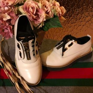 Geox white shoes